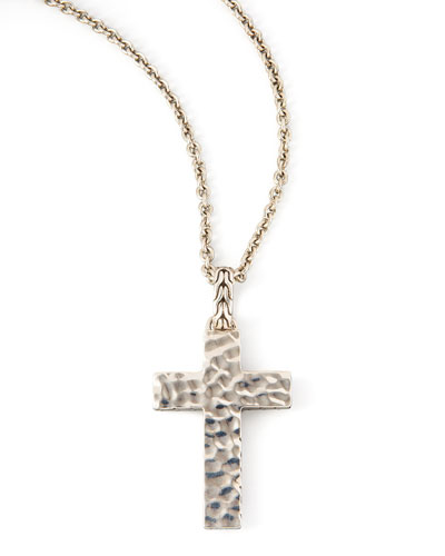 Blackened Palu Cross Necklace