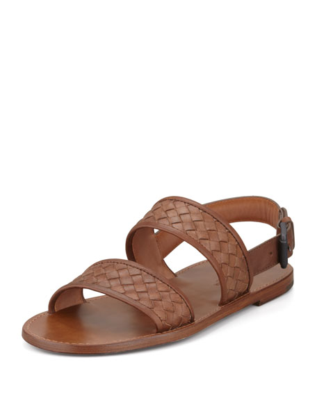 1cd1ac283092 Bottega Veneta Woven Two-Strap Sandal