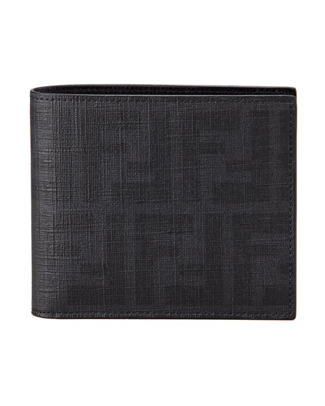 7afb04dde3 Zucca Coated Canvas Bi-Fold Wallet Black