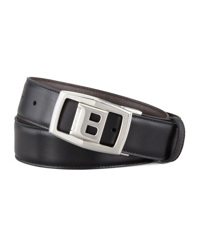 Baldek Reversible Logo Belt, Black