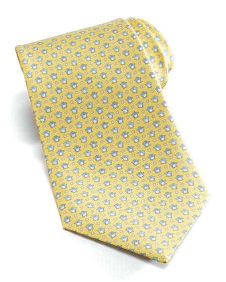 bb5331b31a6b Salvatore Ferragamo Penguins Silk Tie, Yellow