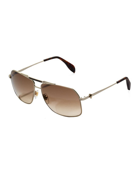 8a0ca86d3eab3 Alexander McQueen Men s Skull Aviator Sunglasses