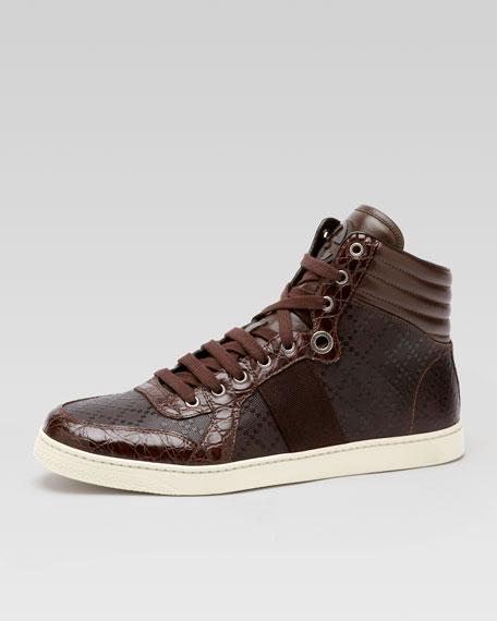 deebf44c678 Gucci Coda Crocodile High-Top Sneaker