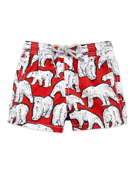 964b2e727a Vilebrequin Polar Bear Boys' Jim Swim Trunks, Sizes 8-14