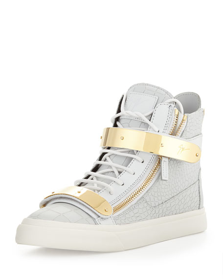 Giuseppe Zanotti Men s Plated High-Top Sneakers 85ee220d6