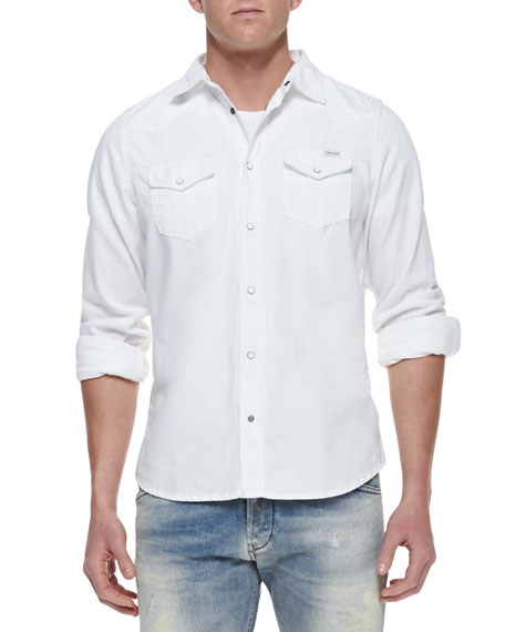 a62549c353 Diesel Sonora Denim Western Long-Sleeve Shirt
