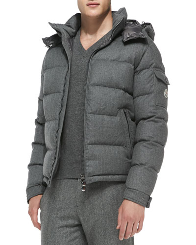 Mont Genevre Quilted Wool Jacket, Gray
