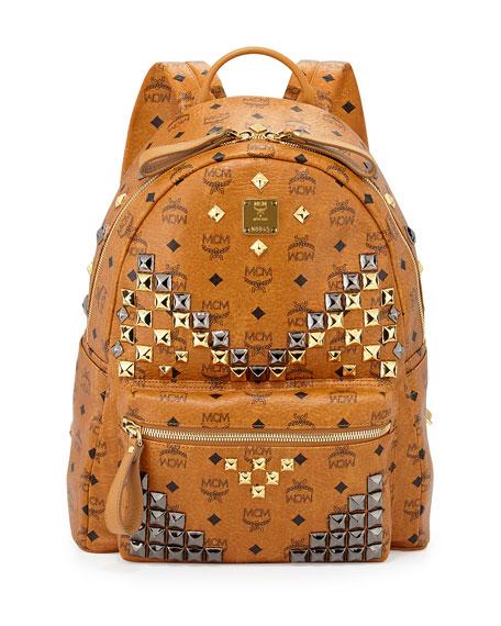 67ec305f662 MCM Stark M Stud Medium Backpack