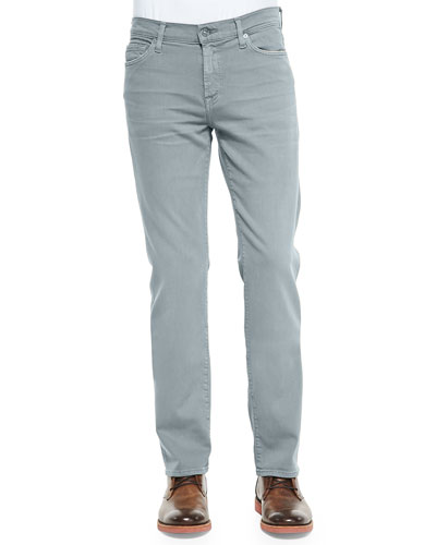 Lux Performance: Slimmy Stone Gray Jeans, Stone Gray