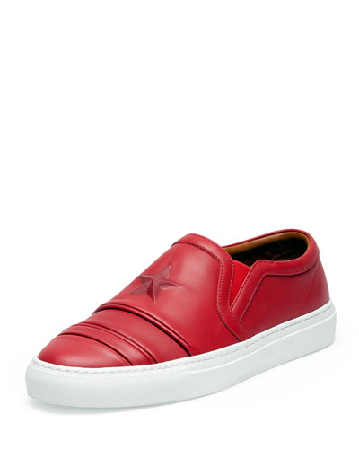Red Star Leather Skate Shoe