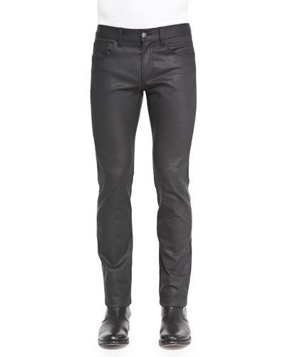 Slim-Fit Coated Denim Jeans