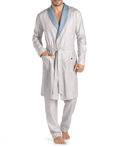 Sorrento Knit Robe, Light Gray