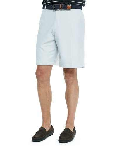 Salem High Drape Performance Shorts, Gray