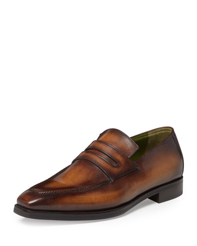 Andy Leather Penny Loafer, Tobacco