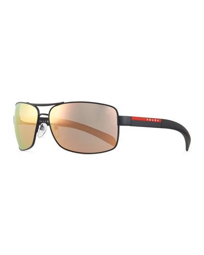 Sport PS541S Sunglasses, Black/Mirror