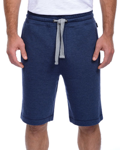 Terry Cotton-Blend Shorts, Blue