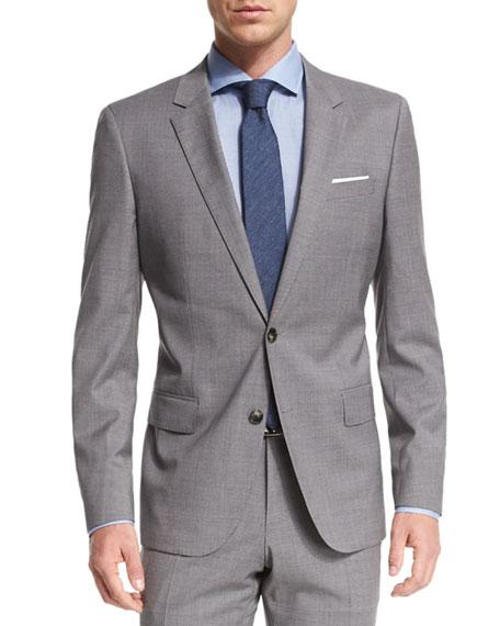b91b6b357 Boss Hugo Boss Huge Genius Tonal Plaid Two-Piece Slim Wool Suit, Light Gray