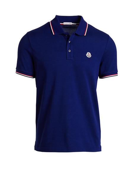 Moncler Tipped Piqu Polo Shirt