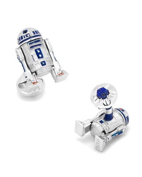 Cufflinks Inc. 3D Star Wars R2-D2 Cuff Links vm5MdqYBG