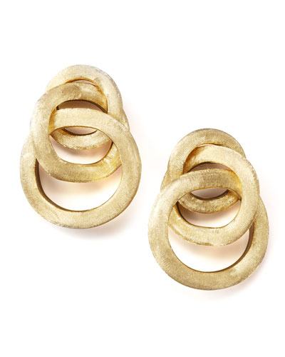Textured Gold Link Earrings