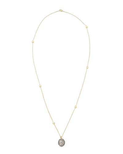 African Pave Sapphire Pendant Necklace, 30