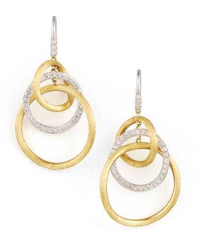 Jaipur Diamond Link Drop Earrings