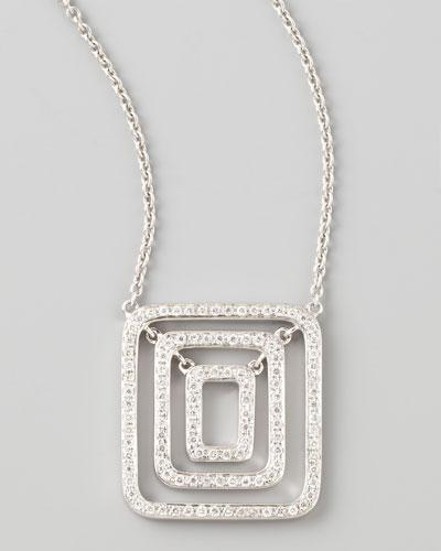 Piece 18k White Gold Diamond Pendant Necklace
