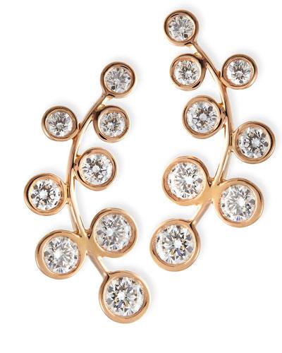 18k Rose Gold & Diamond Climber Earrings