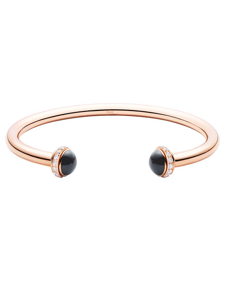 Piaget Possession Medium Onyx Cabochon Bracelet in 18K Red Gold, Size M