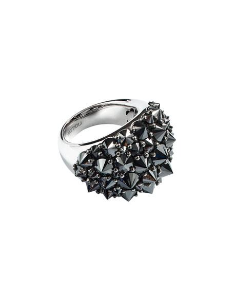 Mattioli 18k Spiked Black Diamond Ring xV2z6VWGu