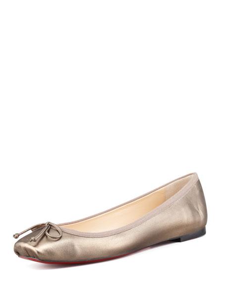 1c4568af0bb Christian Louboutin Rosella Square-Toe Ballerina Flat