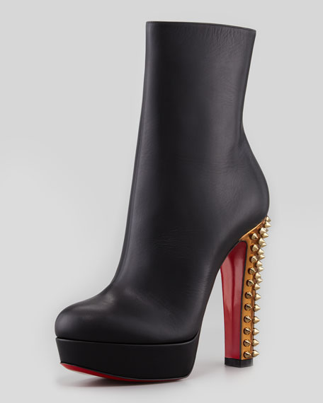 0f958be5fdd Taclou Spiked-Heel Red Sole Bootie Black