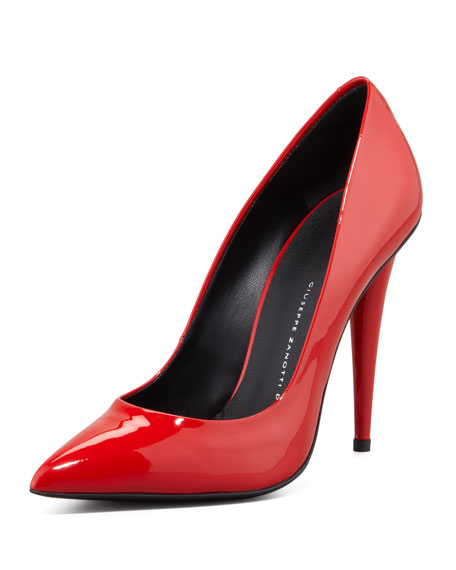 giuseppe zanotti ester patent leather pump red rh neimanmarcus com