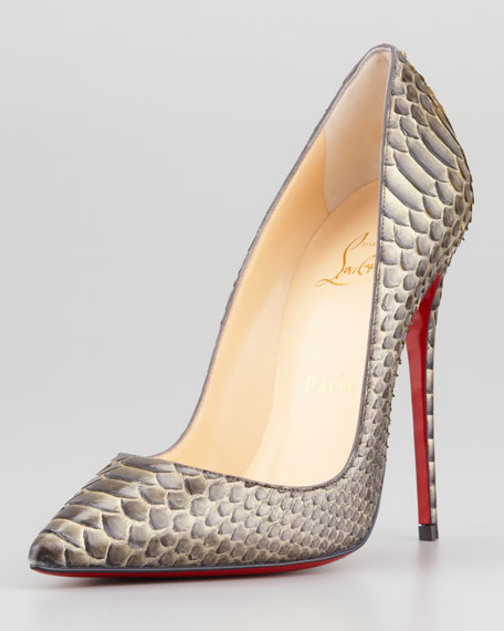 a64bf56c5017 Christian Louboutin So Kate Python Pointed-Toe Red Sole Pump