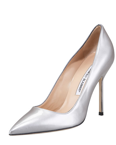 sale countdown package factory outlet cheap price Manolo Blahnik Metallic Leather Pumps t5ECqD9A