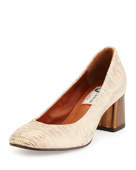 Lanvin Metallic Leather Pumps lowest price online outlet shop clearance for sale cheap sale outlet HYhQDAJ