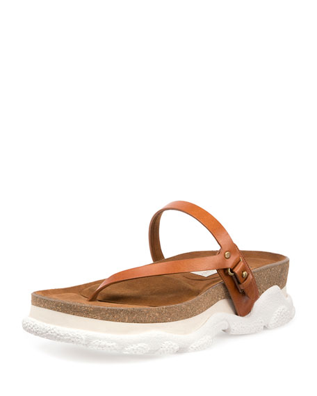 Stella McCartney Vegan Leather Thong Sandals