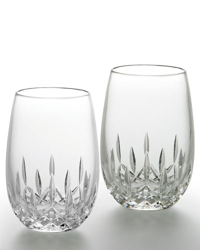 """Lismore Nouveau"" Stemless Wine Glasses"