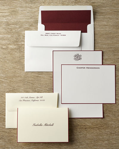 Hand-Bordered Stationery