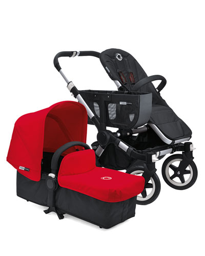 Donkey Stroller & Tailored Fabric Set, Red