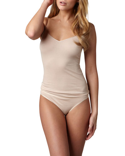 Cotton Seamless Camisole & High-Cut Briefs