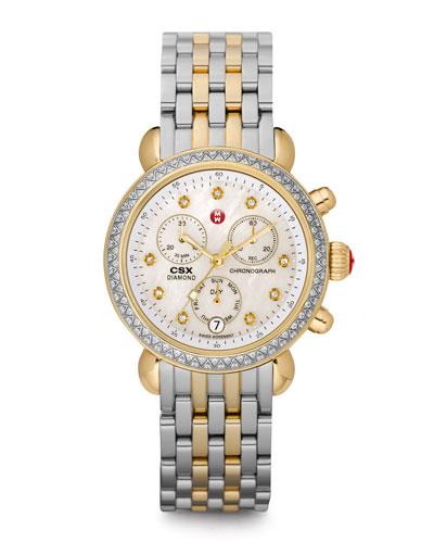 CSX 36 Diamond-Bezel Watch & Two-Tone Bracelet Strap