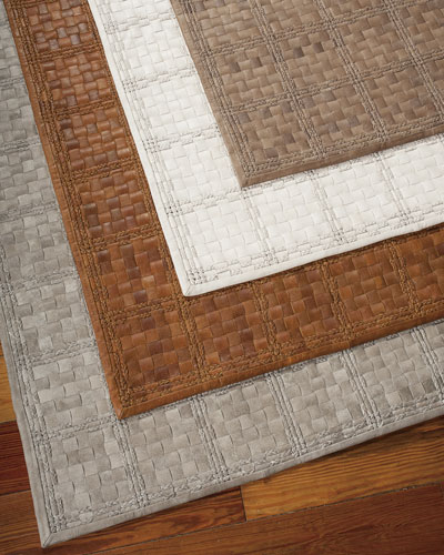 """Derby"" Woven Leather Rug"