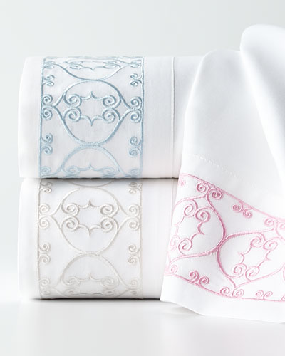 Embroidered Scroll 200TC Sheet Sets