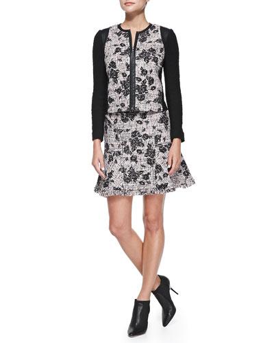 Rebecca Taylor Flocked Tweed Jacket & Skirt