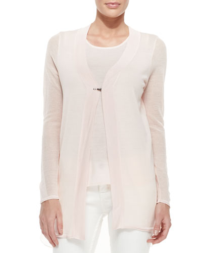 Hazel Long High-Low Sweater & Scoop-Neck Merino Tank