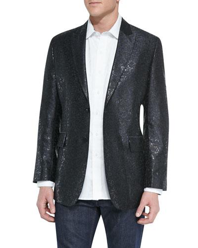 Limited Edition Shortland Metallic Jacket & Salisbury Tonal-Jacquard Sport ...