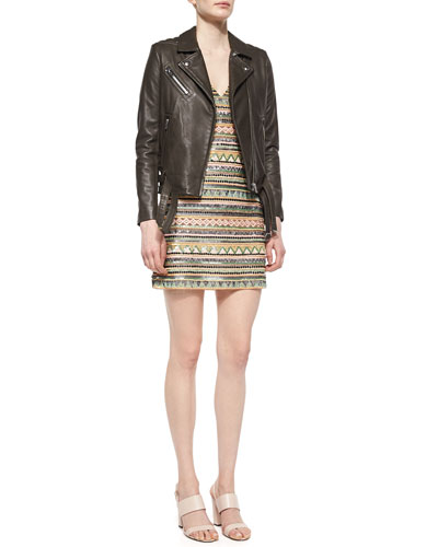 Jone Leather Jacket & Venetia Beaded Dress