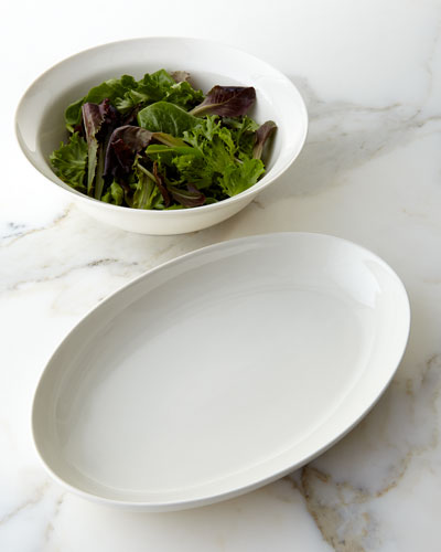 Opal Crackle Platter & Salad Bowl