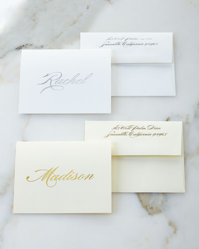 Foil-Embossed Foldover Notes